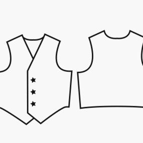 Witty image pertaining to printable vest pattern