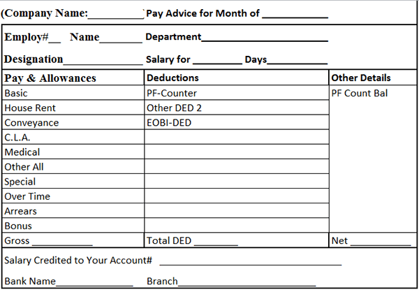 Top  Formats Of Salary Slip Templates Word Templates Excel Word