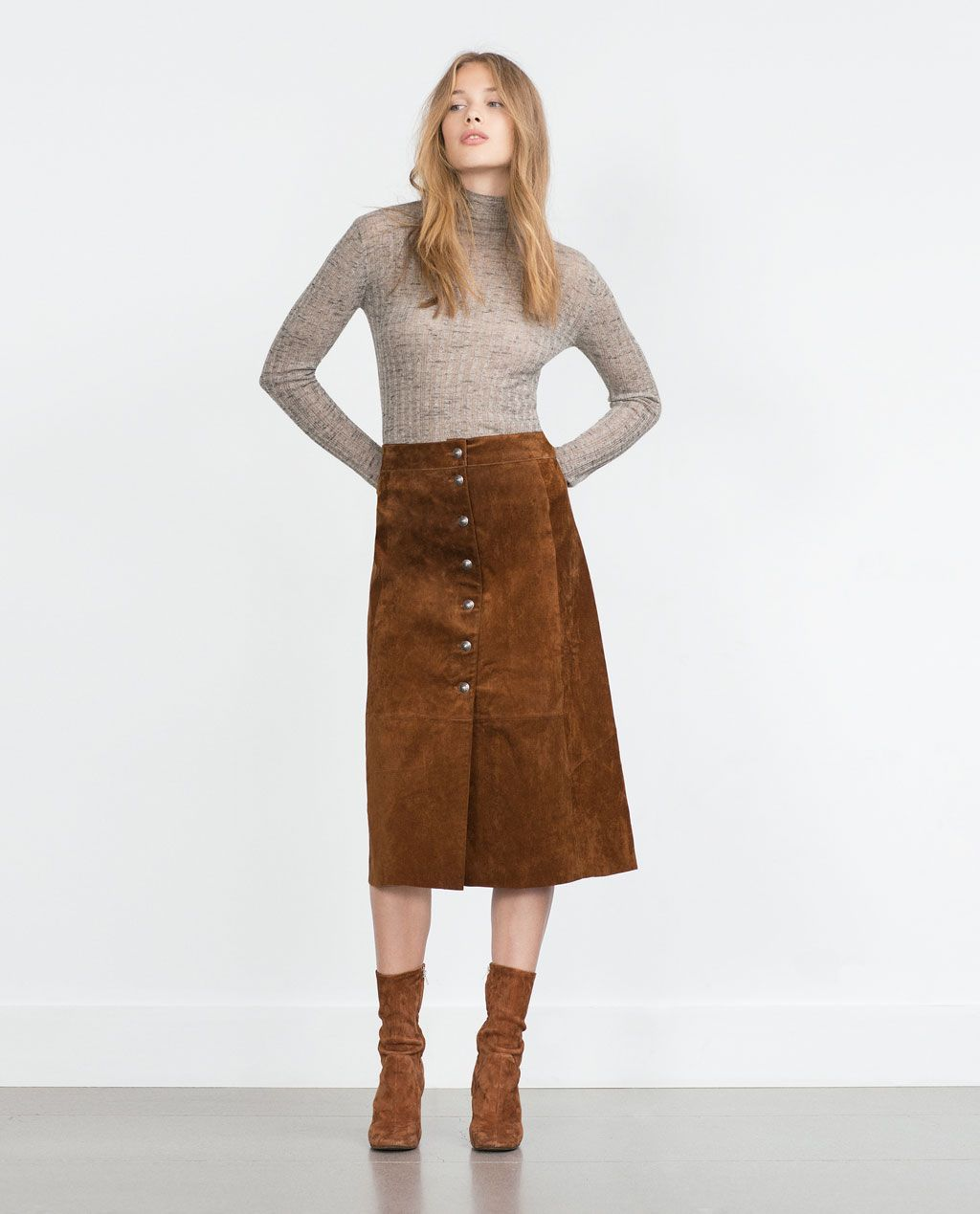 LEATHER SKIRT-View all-Skirts-WOMAN | ZARA United States | clothes ...
