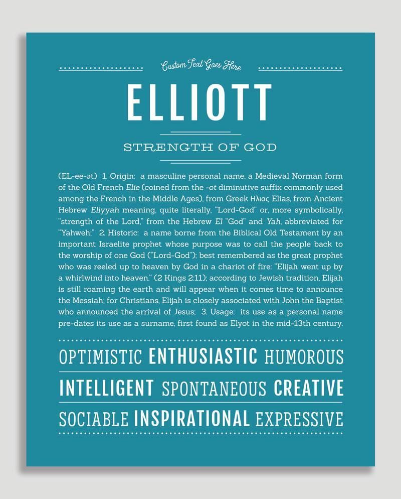 Elliott (male) | Classic Name Print | Classic names, Names ...