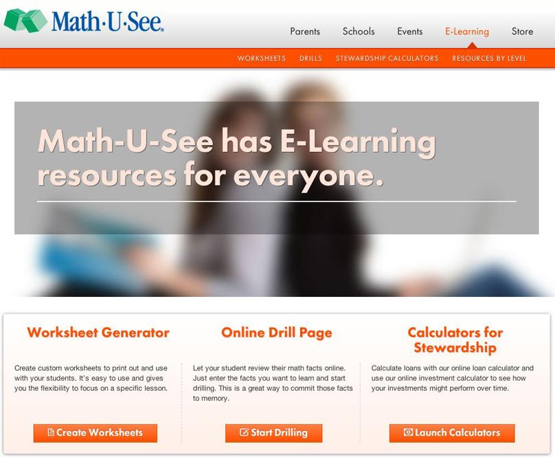 E Learning Elearning Learning Coach Math U See