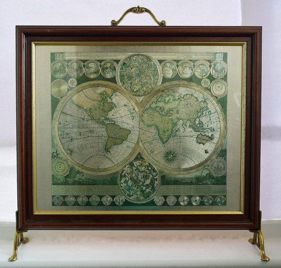 World Map By Peter Schenk The Elder.Framed World Map Vintage From Peter Schenk The Elder World Map