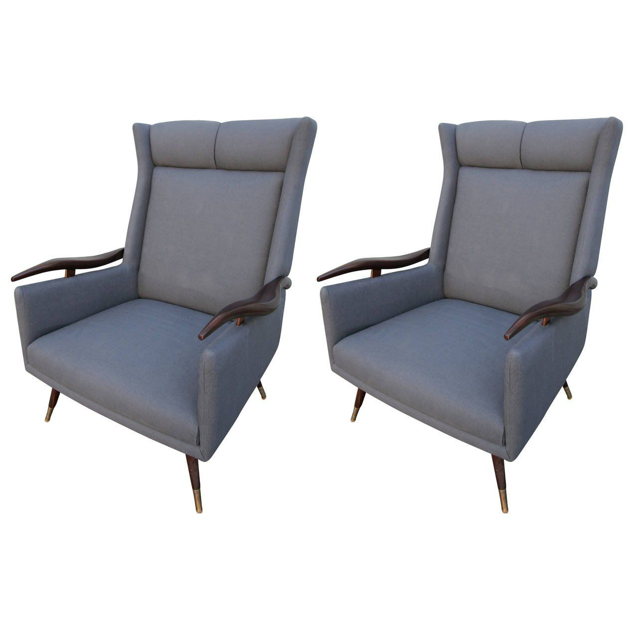 Pair Of 1950s Brazilian Lounge Armchairs Chairs Lounge Armchair Armchair Chair