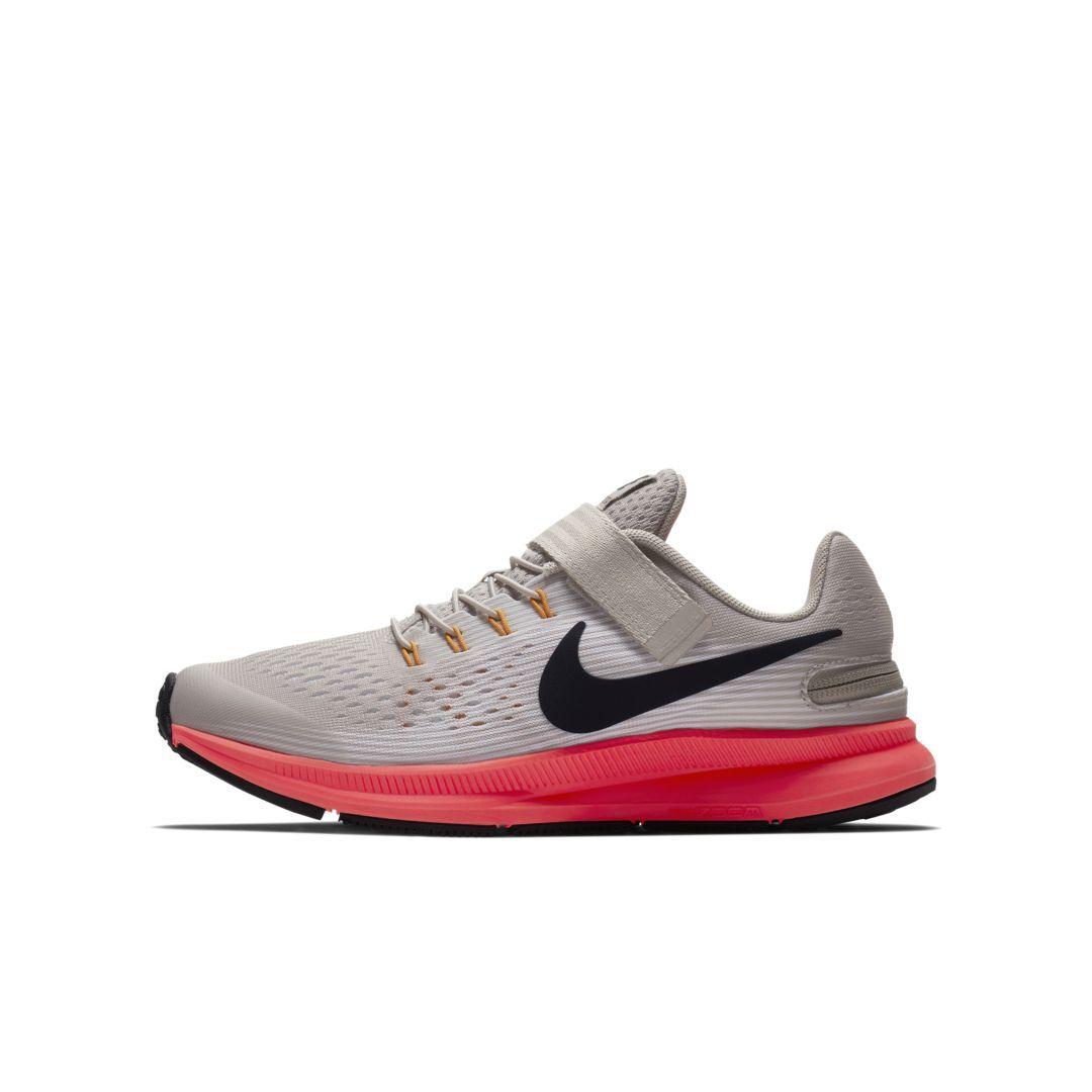 3c39590a6966ac Nike Zoom Pegasus 34 FlyEase Big Kids  Running Shoe Size 6.5Y (Moon  Particle)