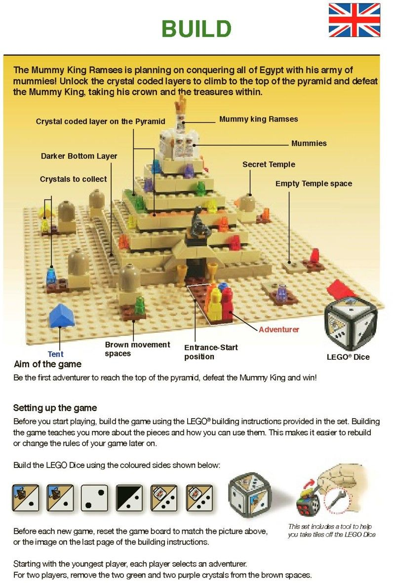 Games Ramses Pyramid Lego 3843 History And Geography