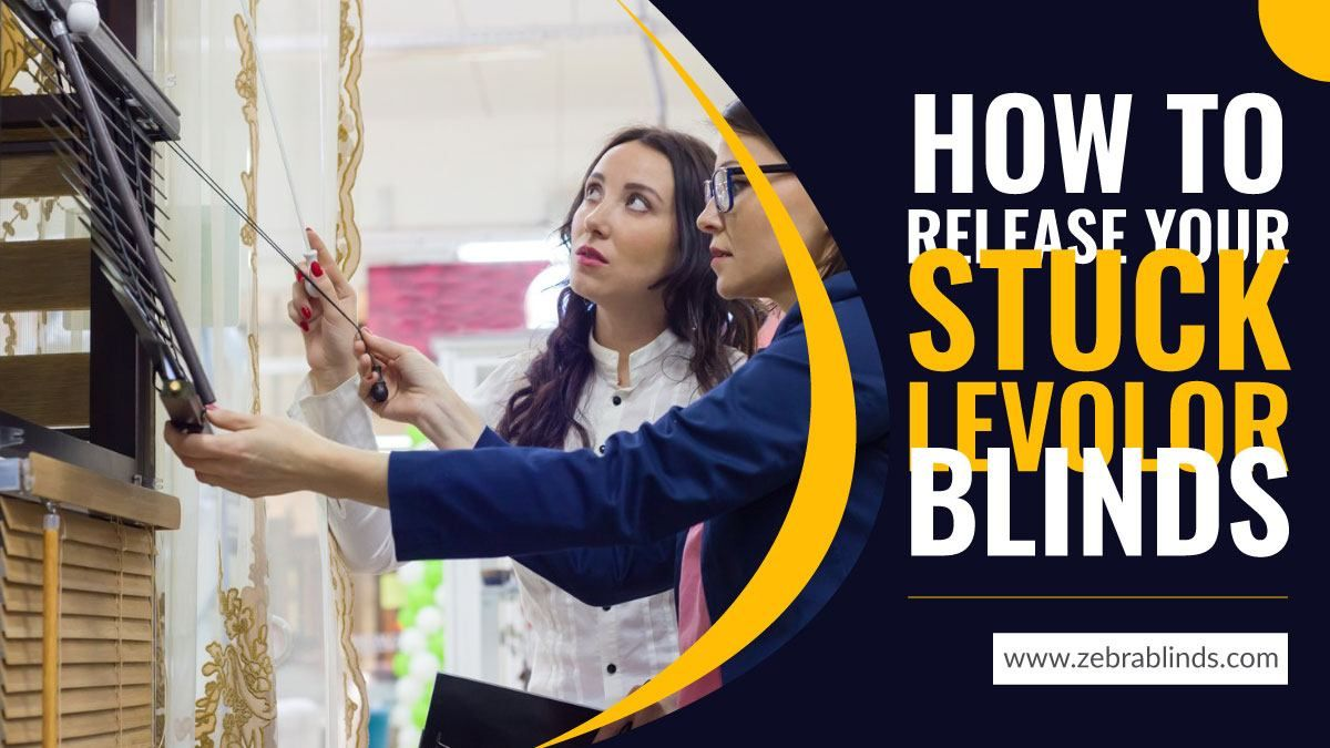 How to release your stuck levolor blinds in 2020 blinds