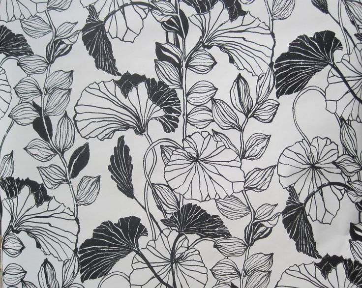 Black and white flower print gallery flower decoration ideas image result for geometric floral prints prints pinterest prints york wallcoverings black and white leaf outline mightylinksfo Image collections