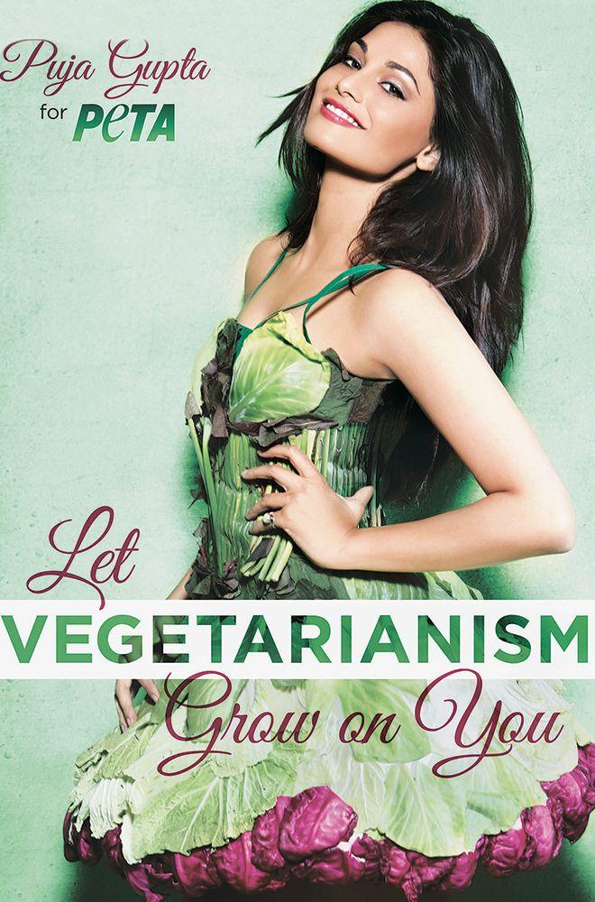 5f49417085 Puja Gupta Dresses Up In Lettuce Leaves For PETA To Promote Vegetarianism