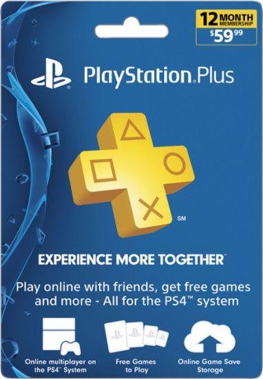 Sony - PlayStation Plus 12-Month Membership - Digital Sony - free membership cards online