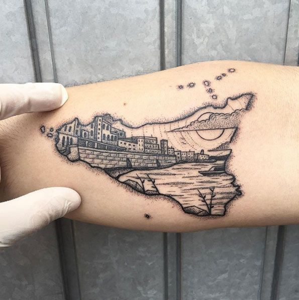 25 Cityscape Tattoos of the World's Most Beautiful
