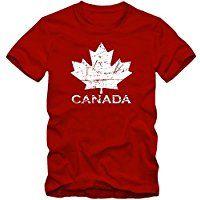 Kanada Ice Hockey T-Shirt |Herren | Ahornblatt | Eishockey WM 2015 Canada | CAN |Vintage | 100 % Baumwolle | XS-5XL