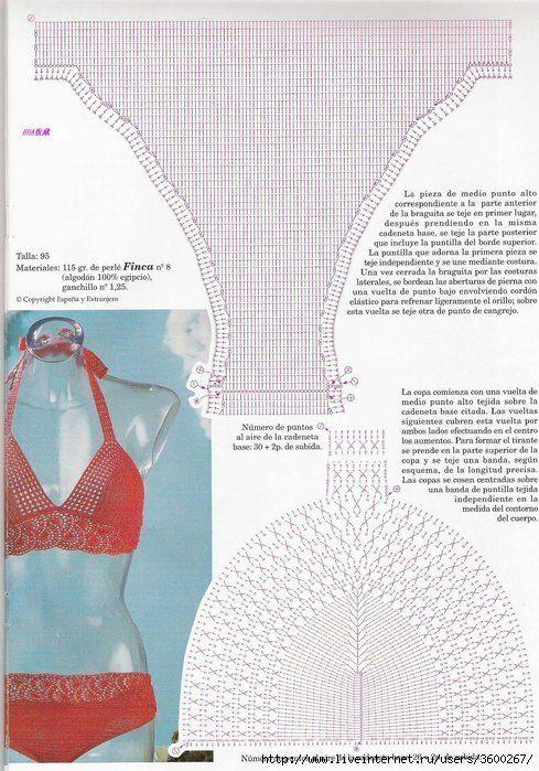 Crochet bikini by caro schnyder | Crochet Blouse | Pinterest | Baño ...