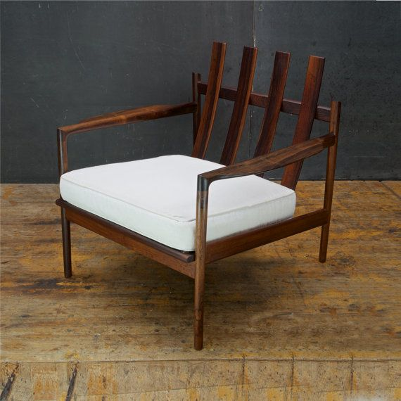 Kofod-Larsen Brazilian Rosewood Lounge Chair Selig Mid-Century Danish Modern