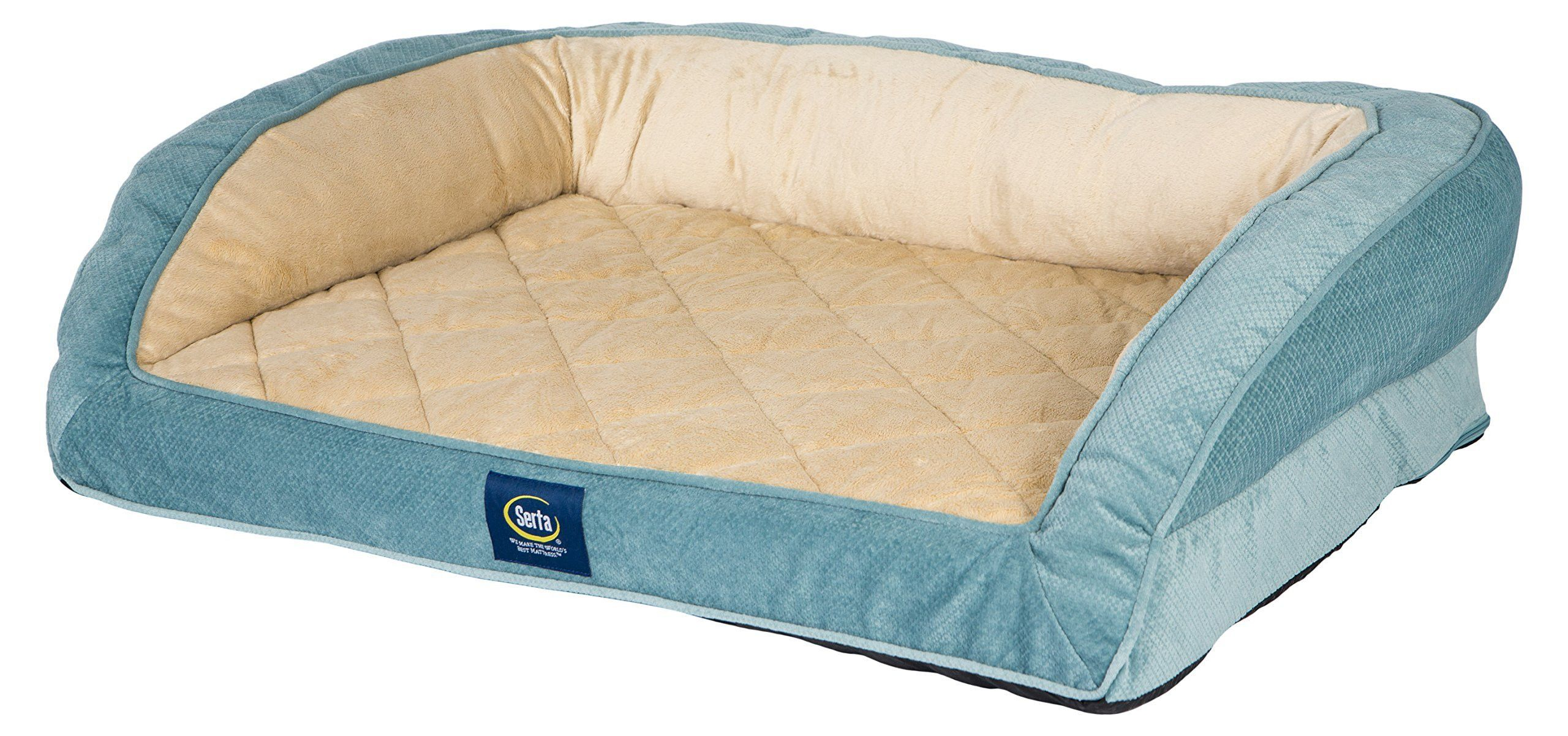 Serta Orthopedic Quilted Couch Blue Large Couch pet bed