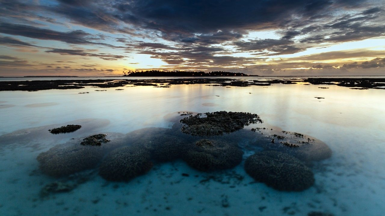Sea 5k 4k Wallpaper River Stones Sky Clouds Horizontal Sunset Wallpaper 4k Wallpaper Wallpaper Landscape