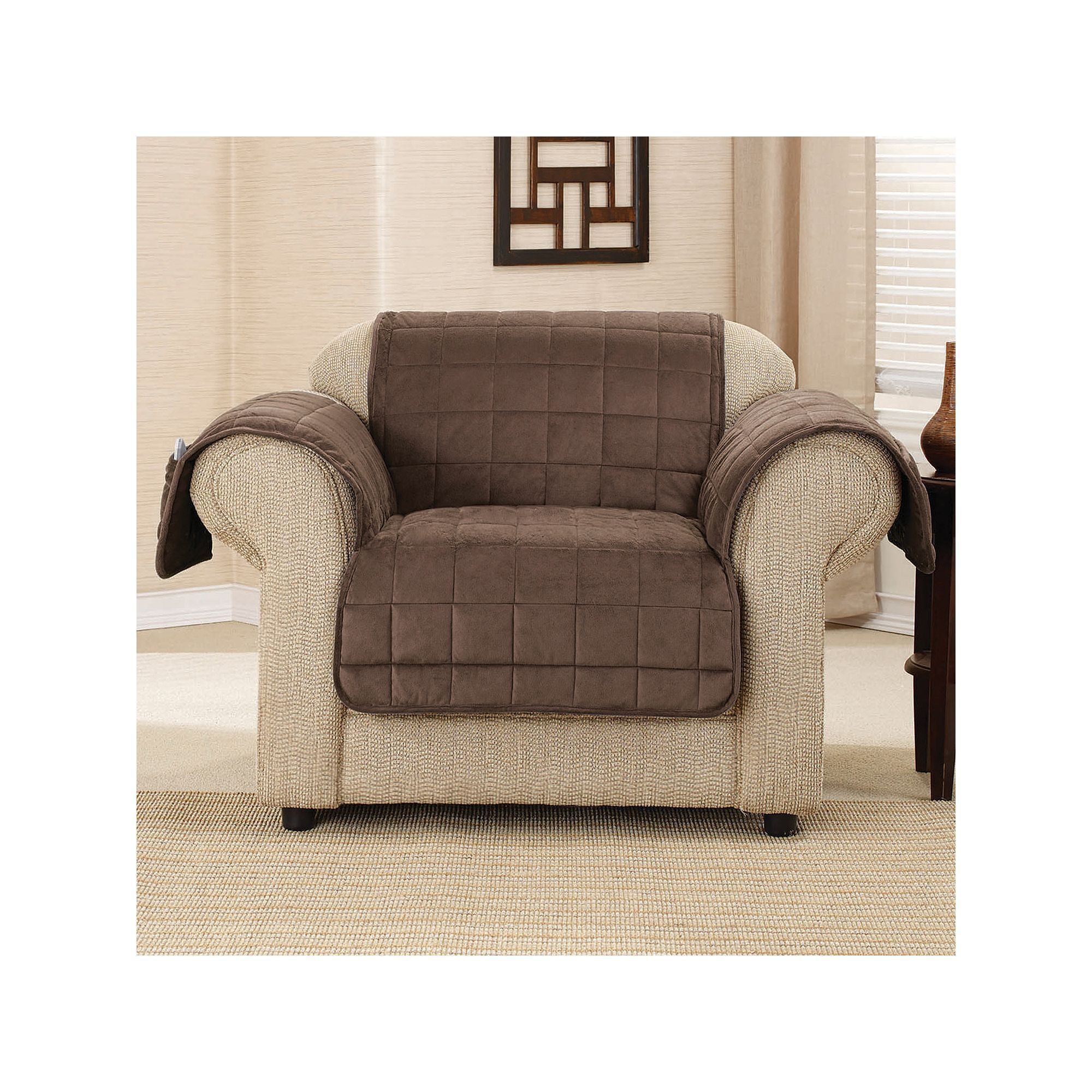sure fit patio furniture covers. Sure Fit Deep Pile Velvet Chair Slipcover, Brown Patio Furniture Covers I