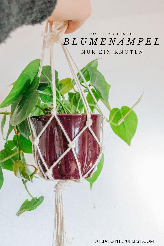 DIY Blumenampel - Videoanleitung #5minutencraftsvideo