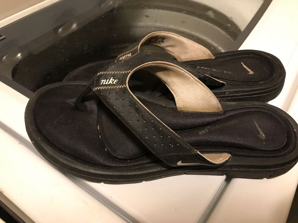 1d36abf09da19 Womens Nike Comfort Cushion Black Size 8 Thong Style Flip Flops Sandals  Comfy  fashion  clothing  shoes  accessories  womensshoes  sandals (ebay  link)
