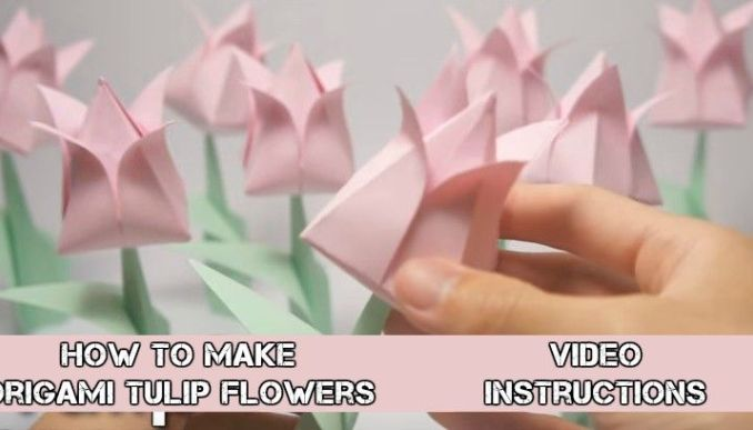 How To Make Easy Origami Flowers Video Instructions Origami