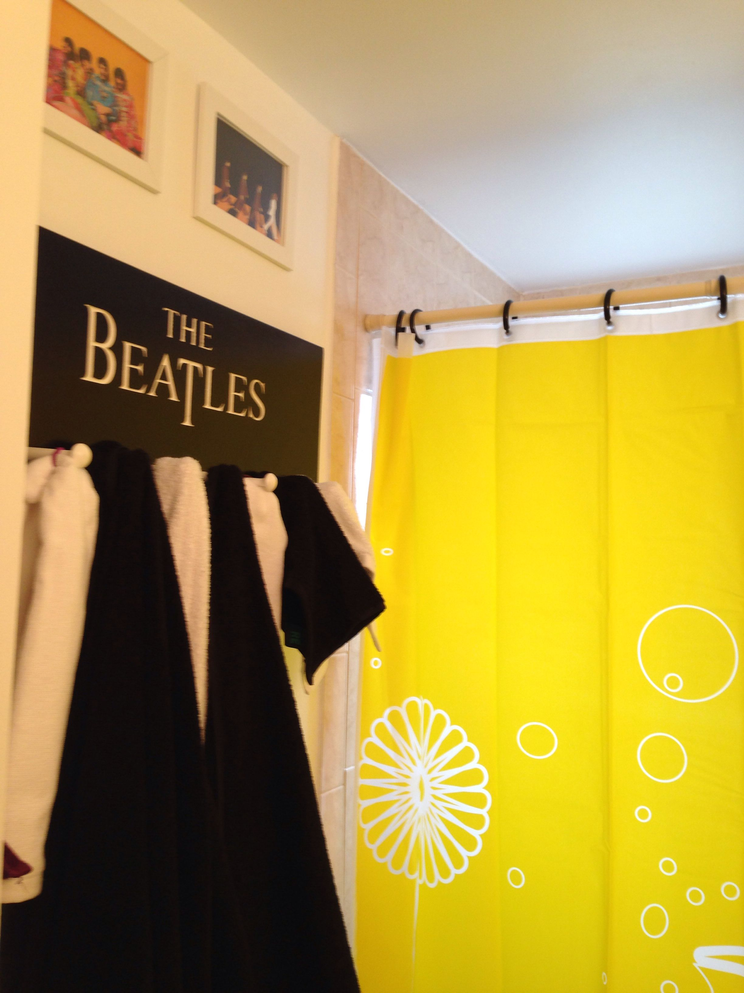 Ordered A Beatles Towel Holder Purchased A Yellow Submarine Shower Curtain Some 5 7 Beatles Pictures And I M Loving The Beatles