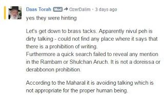 Issues With Daas Torah Blog: Daas Torah Blog Reaches a New Low