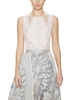 Silk Bow Front Crop Top