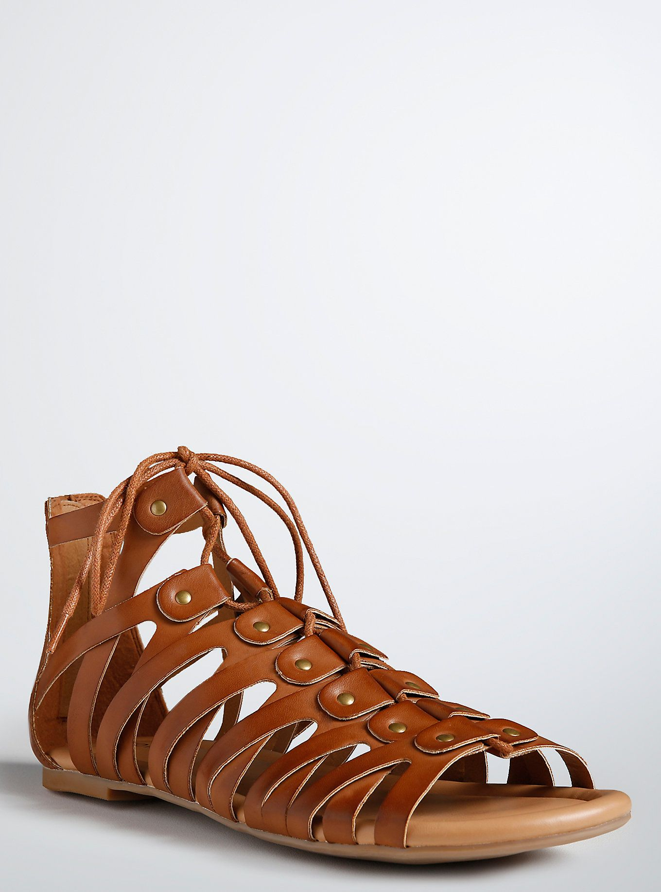 0f539f14e3 Lace Up Gladiator Sandals (Wide Width)