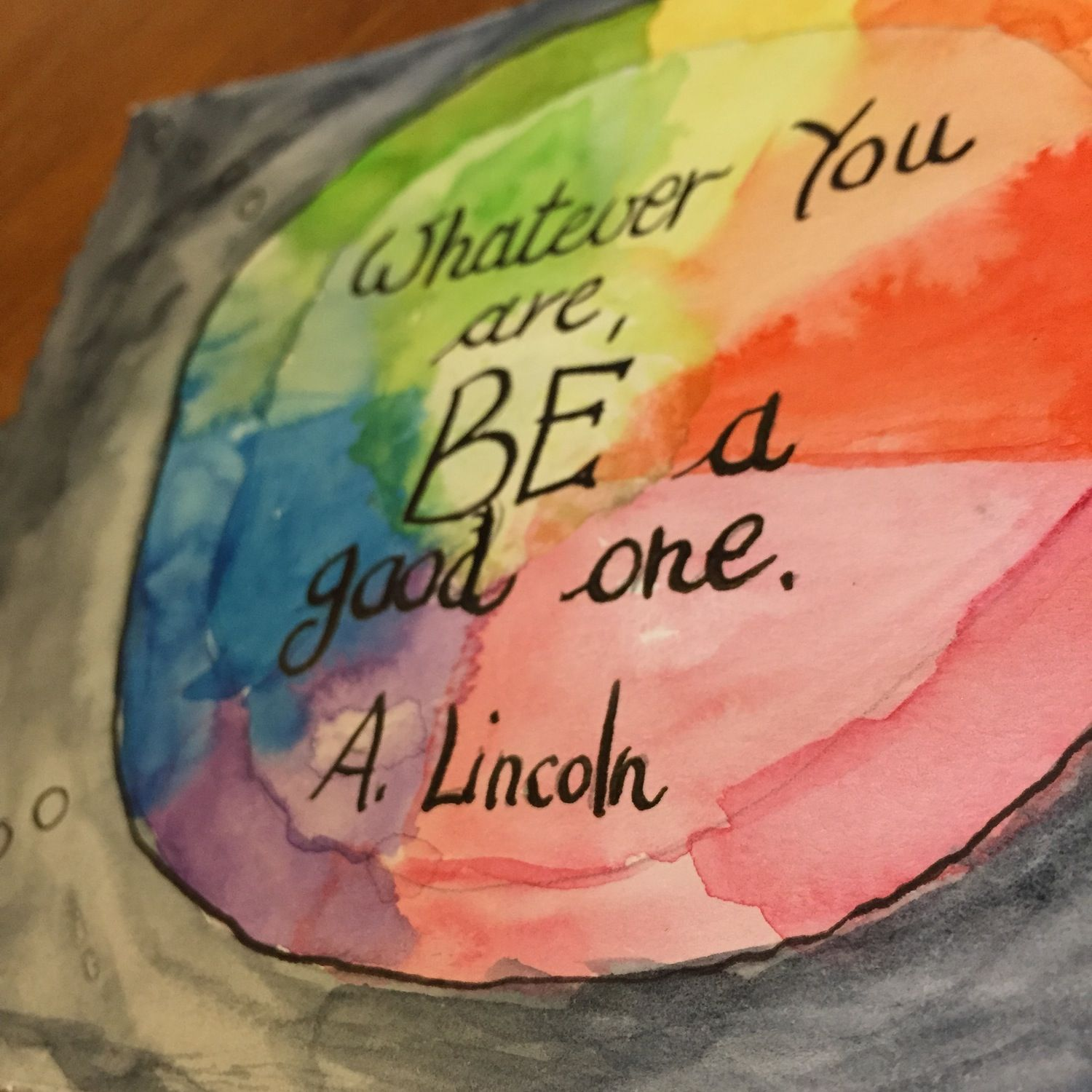 Image of Original Watercolor Card - Lincoln quote - Whatever You are, Be a good one