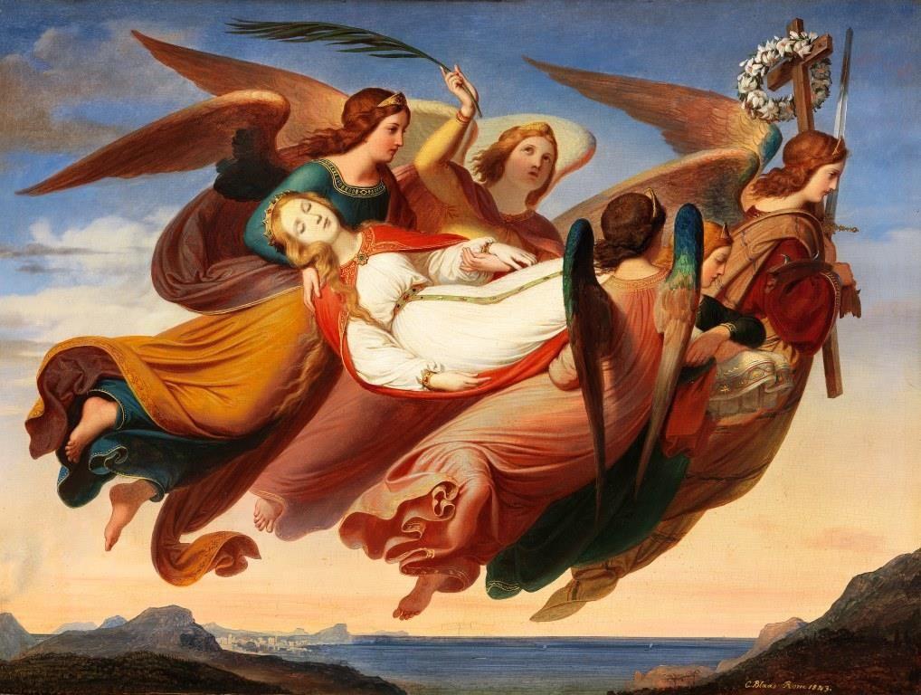 Karl Von Blaas St Katharina Com Imagens Beata Santa