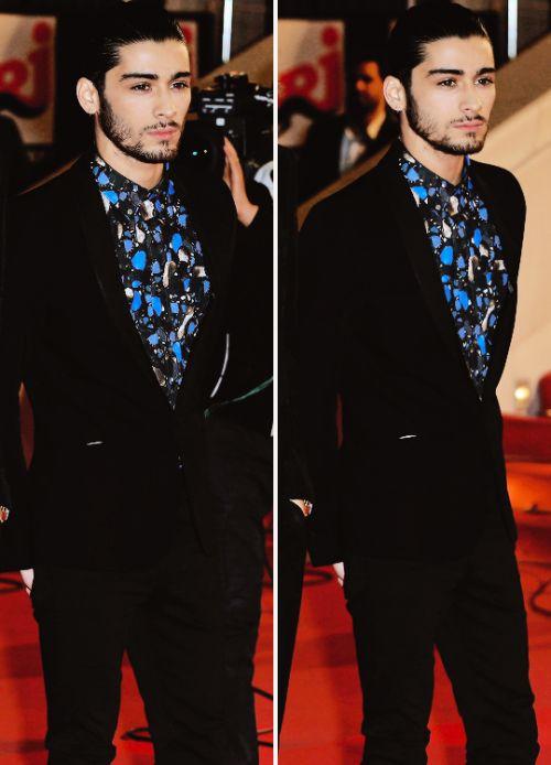 Zayn Malik ponytail (man bun) NRJ Awards 2014