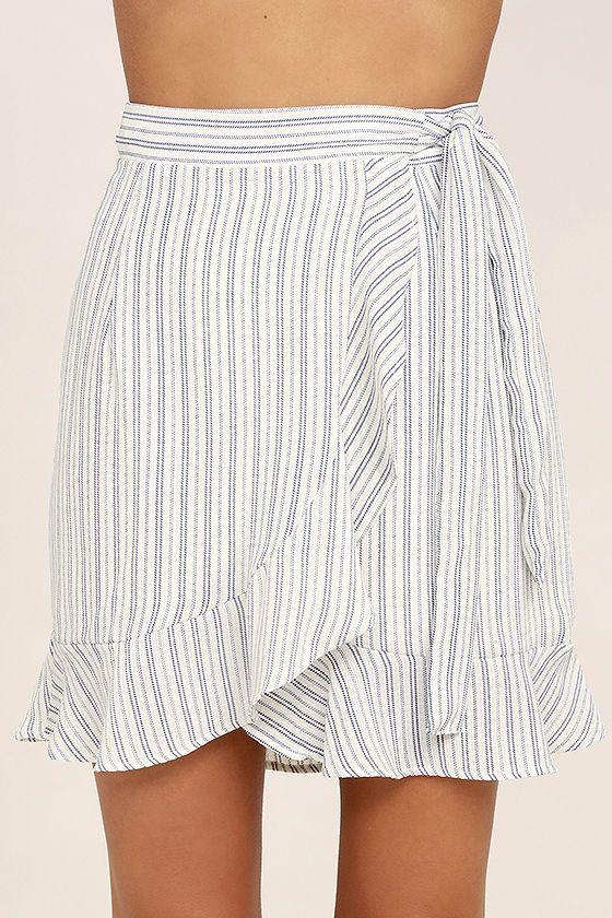 White Skirt In Winter Wrap Mini