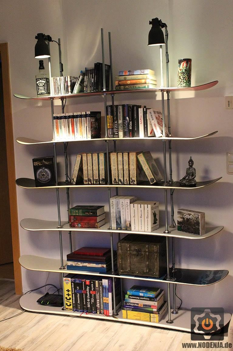 Upcycle Recycle Old Snowboard To A Shelf Nodenja