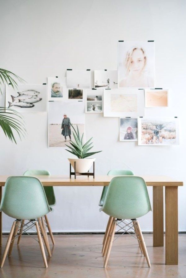 Fotopinnwand in pastell imnebenraum Wohnen und Einrichten mit - einrichtungsideen esszimmer