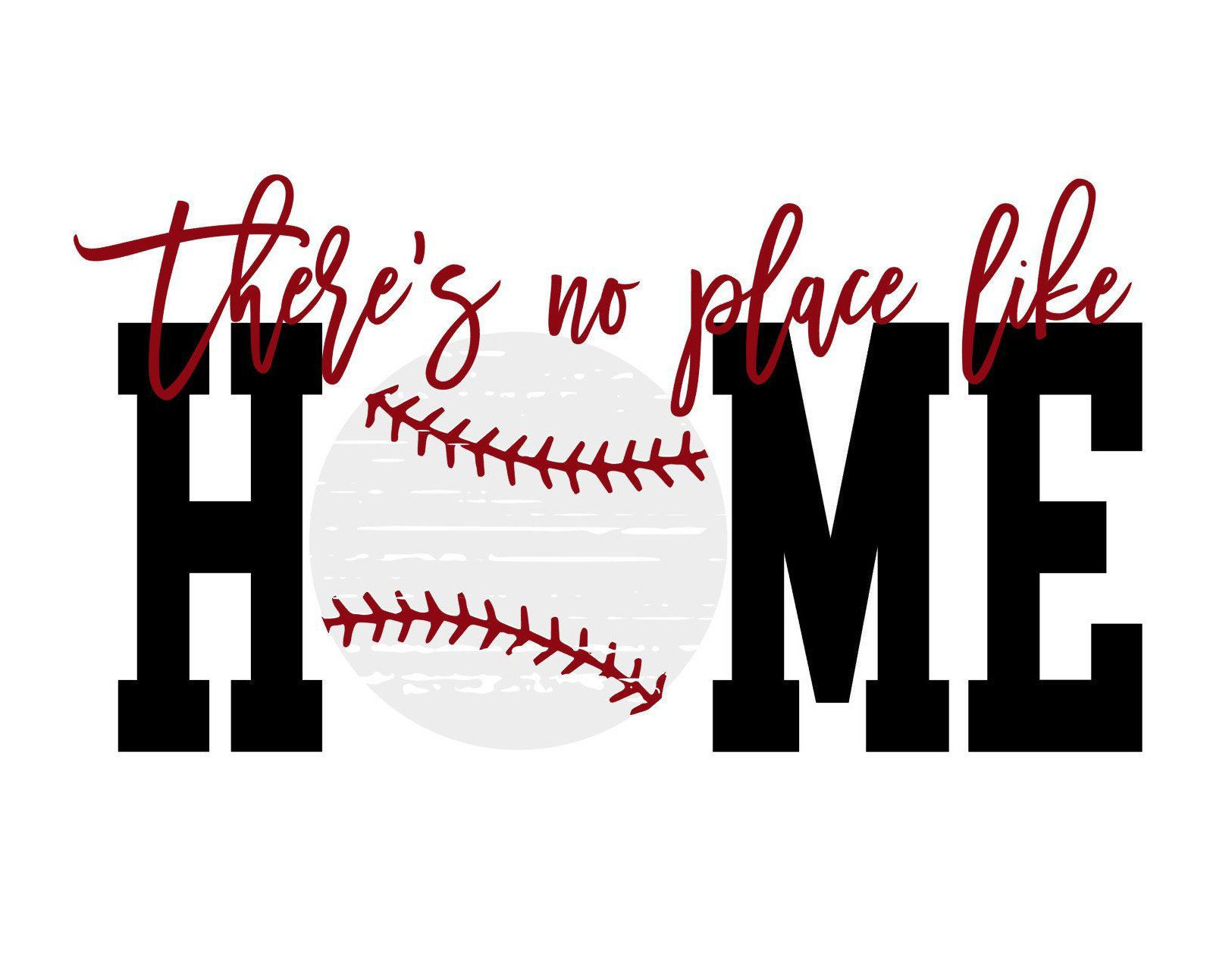 Photo of There's no place like home Distressed Baseball SVG