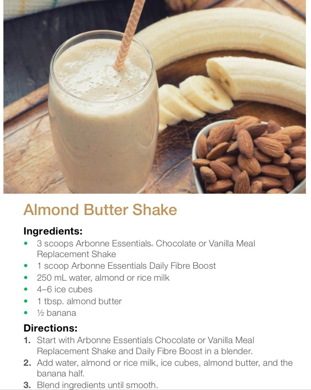 ARBONNE SMOOTHIE IDEA  Arbonne recipes, Arbonne shake recipes
