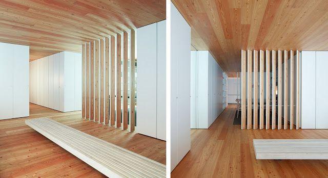 Casa cp la calidez del alerce espacios en madera - Revestimiento de paredes interiores en madera ...