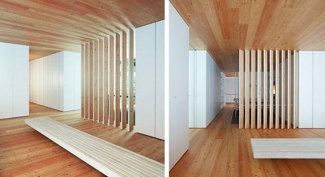 Casa cp la calidez del alerce espacios en madera - Madera paredes interiores ...