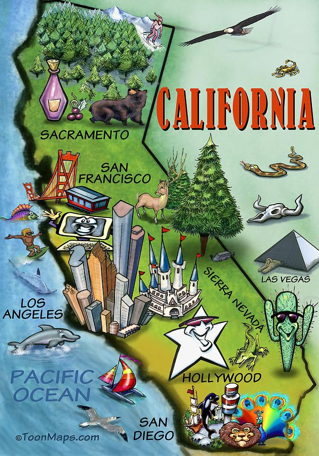 MAPAMAP Where is the BIG STAR of California Find it in this