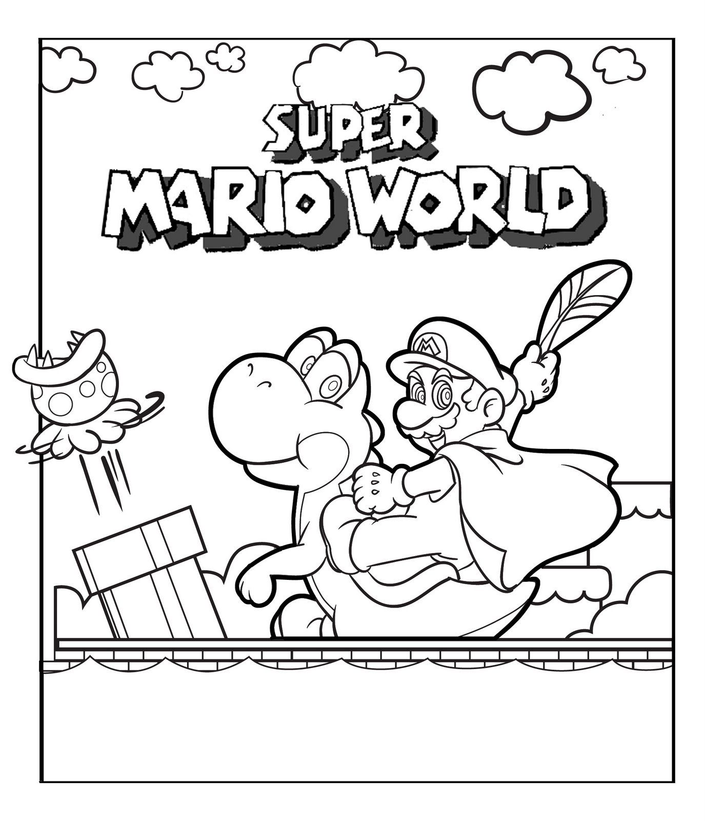 Printable Mario Coloring Pages Super Mario Coloring Pages Mario