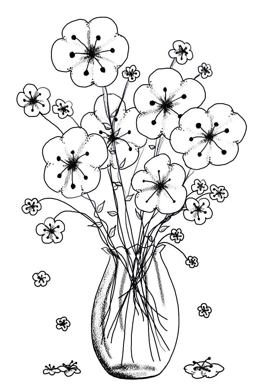 jarron con flores | bordados | Pinterest | Flores, Bordado y Dibujos ...