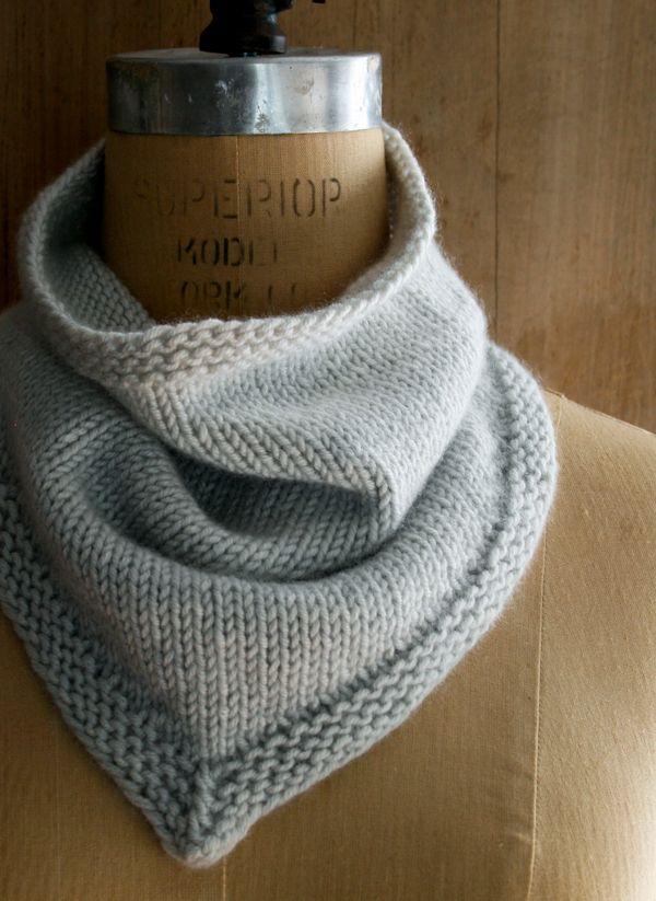 New Cashmere Bandana Cowl! | Knitting and crochet | Pinterest ...