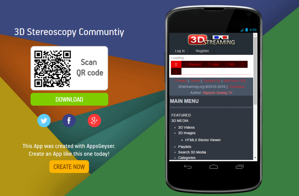 Stereoscopy 3d Stereoscopy Communtiy Android App V2 0 1 1 Android Apps App Android