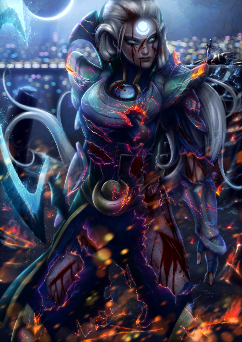 Lol League Of Legends Fan Art Wallpaper Campeoes Diana By