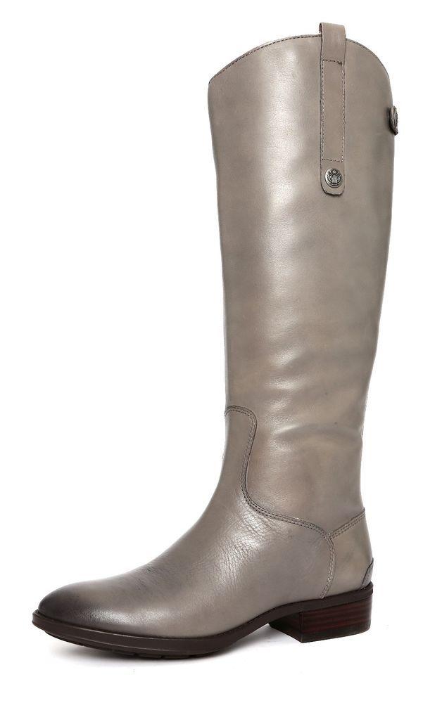 79ca1bf0e4909c Sam Edelman Women s Penny Grey Frost Leather Riding Boot Size 7 W 1174   SamEdelman  RidingBoots