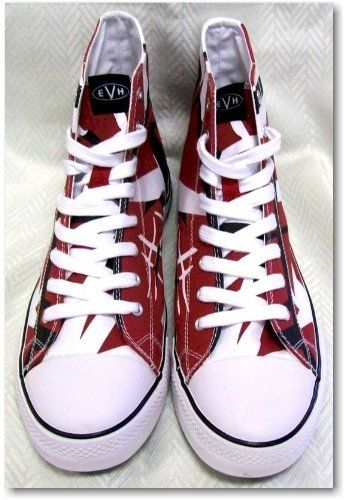 e8f03eda67 Size 8.5 Eddie Van Halen EVH Red Black White Combo HIGH Top Sneaker Tennis  Shoes EV027
