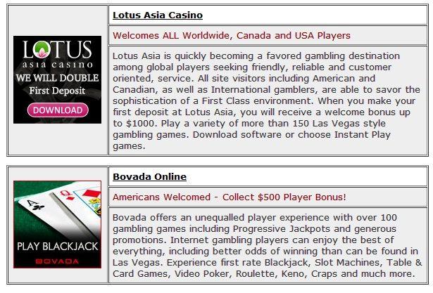 USA Online Sportsbooks