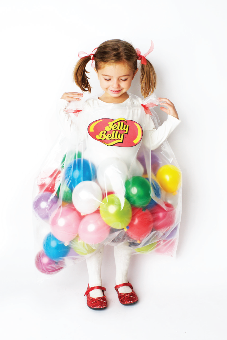 Jelly belly diy halloween costume with balloons for kids for Easy homemade costume ideas for kids
