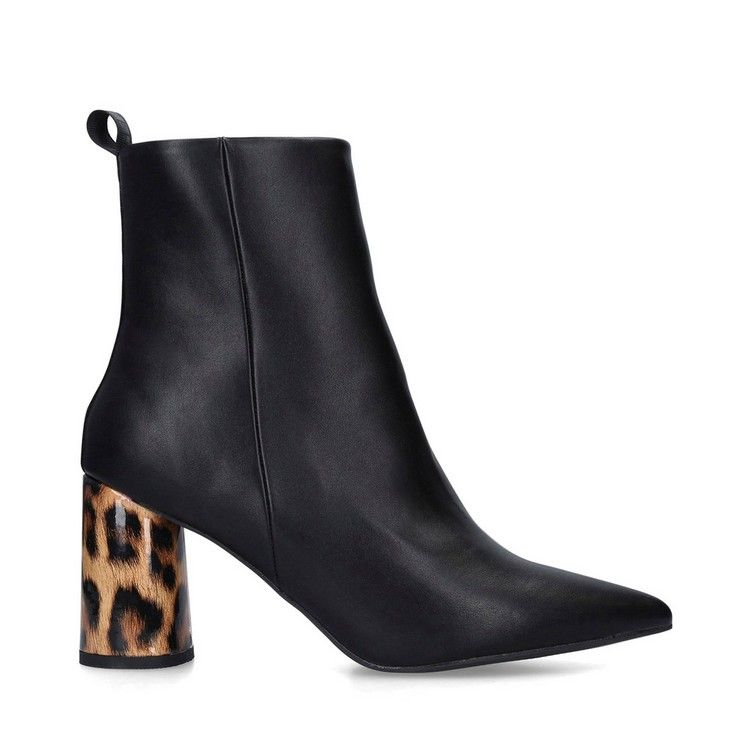many styles buying cheap huge discount KG Kurt Geiger Black 'Triffy' Leopard Print Ankle Boots ...