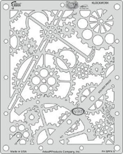 Iwata Artool Freehand Craig Fraser Steampunk FX Klockworx Airbrush Paint Stencil