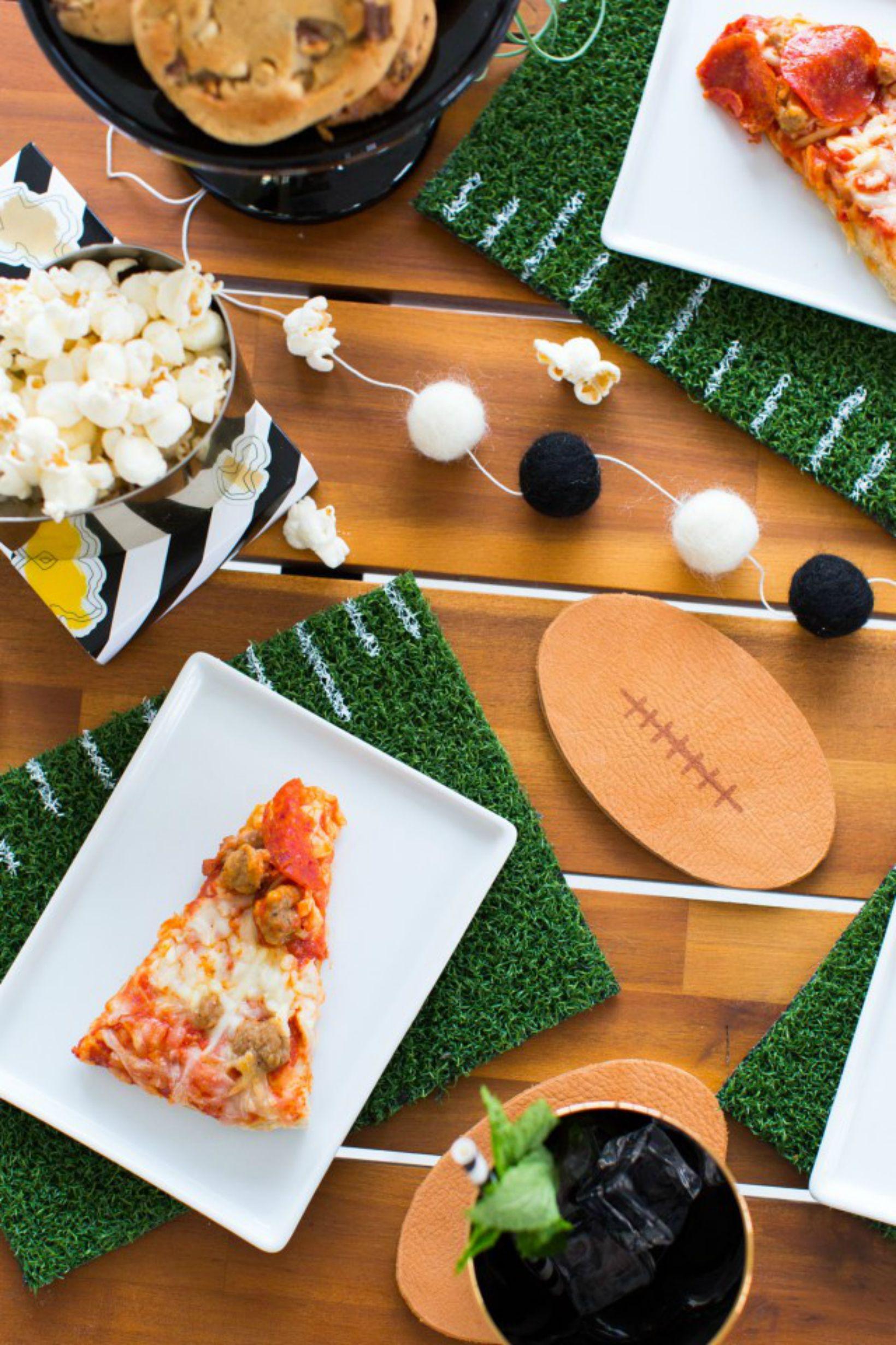 party decorations diy easy bowl super ideas superbowl creative juice sunday decor snacks